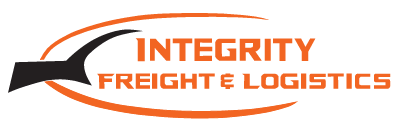 Orange and black Integrity Freight & Logistics logo