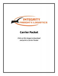 Image of the front page of a carrier packet.