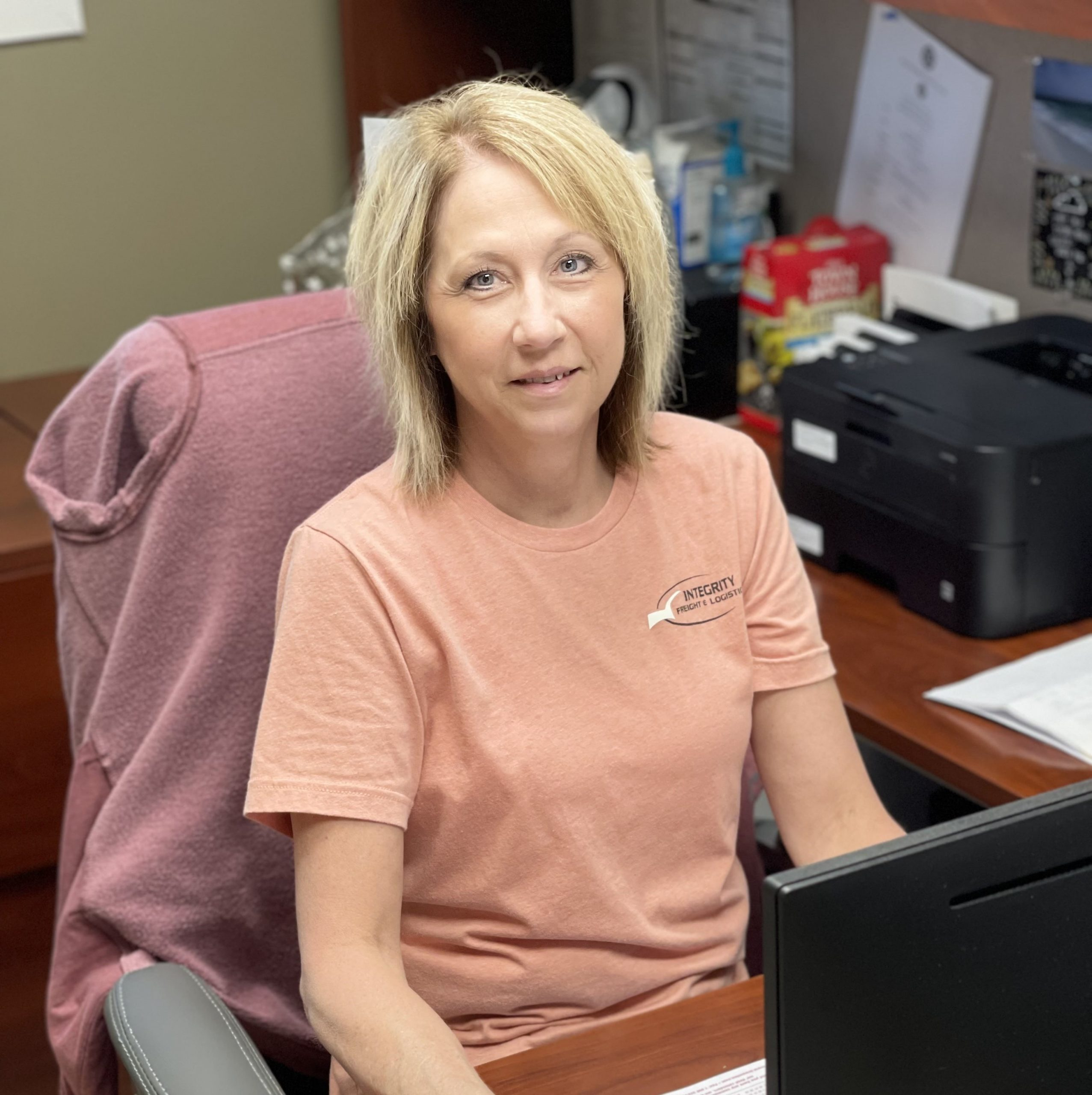 Susan Brammann, co-owner and business manager at Integrity Freight.